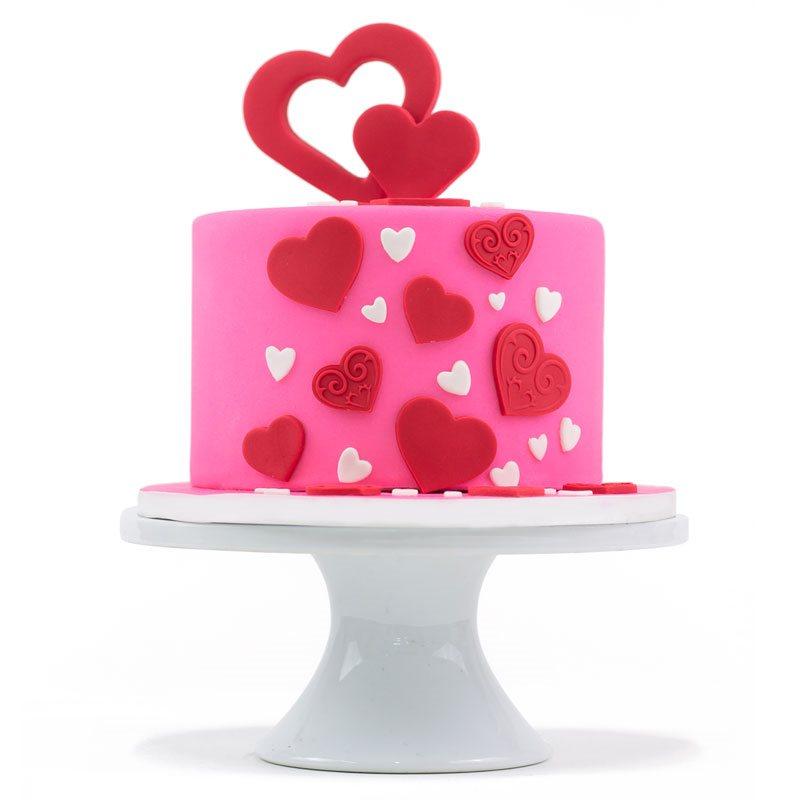 Valentine's Day Cake Pans & Cake Stencils