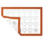 Round & Heart Shape Macaroon Silicone Baking Mat Half Sheet