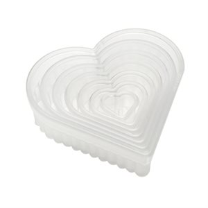 Fluted Heart Cookie and Pastry Cutter