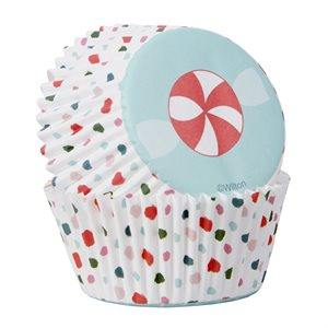 Candy Swirl Baking Cups 75ct