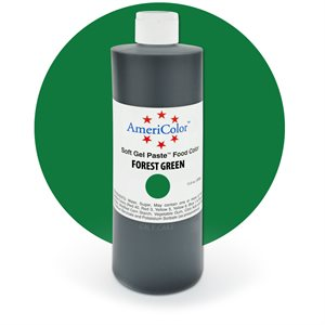 Forest Green Gel Paste 13.5  ounces By Americolor