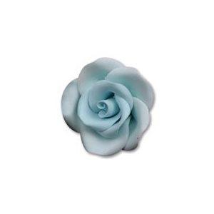 Blue Medium Roses Sugar Flowers