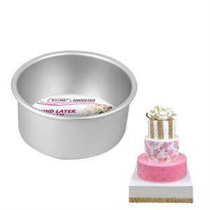 Round Cake Pan 6 by 3 Inch Deep