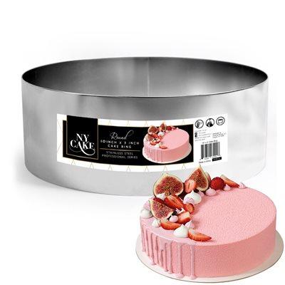 NY Cake Round Cake Ring 10 x 3