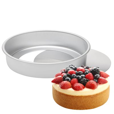 Removable Bottom Round Cake Pan 8 by 2 Inch Deep