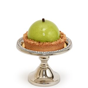 NY Cake Silver Stand w / Diamonds 5""