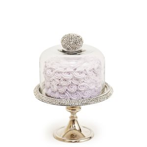 NY Cake Silver Stand w / Diamonds 8 1 / 2""