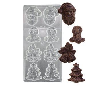 Christmas Assortment 2 Polycarbonate Chocolate Mold