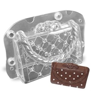 3D Clutch Purse Handbag Polycarbonate Chocolate Mold