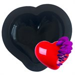 "Curved Heart Silicone Baking & Freezing Mold 6"" Diam."