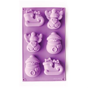 Snowman, Sleigh and Reindeer Silicone Novelty Bakeware