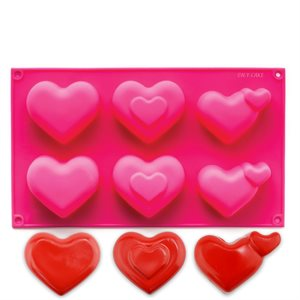Hearts and More Silicone Novelty Bakeware