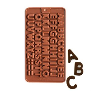 Mini Alphabet Silicone Chocolate Mold