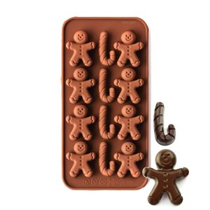 Gingerboy & Candy Cane Silicone Chocolate Mold