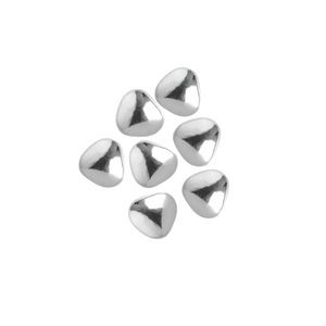 Small Silver Chocolate Hearts