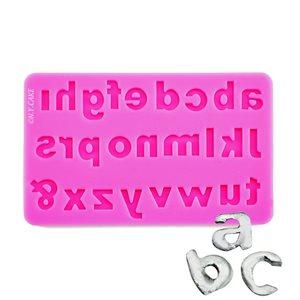Lowercase Alphabet Silicone Fondant Mold