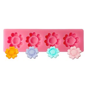 Spring Flower Silicone Mold 4 cavity