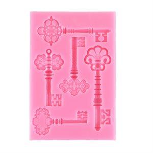Fancy Keys Silicone Mold-4 Cavity