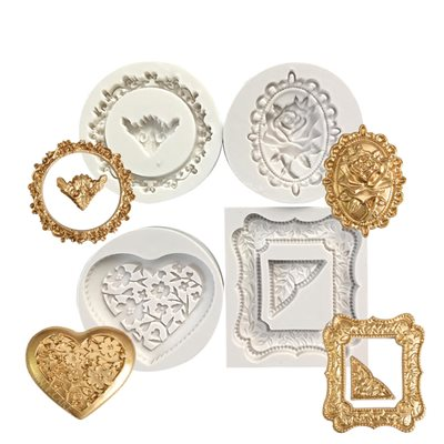 4 Picture Frame Silicone Mold