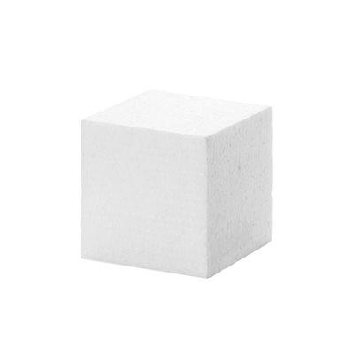 White Durafoam Styrafoam Cube 3 x 3 Inches