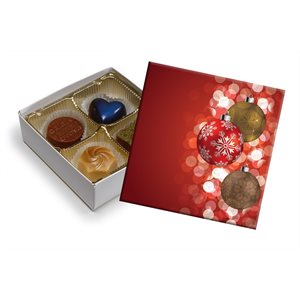 Ornaments Chocolate Box 3 Ounce-Pack of 5