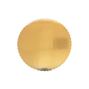 "3"" Scalloped Gold Cake Circle"