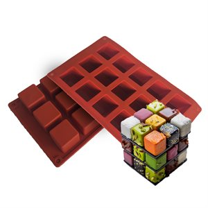 Silicone Baking Mold- Mini Square Cake