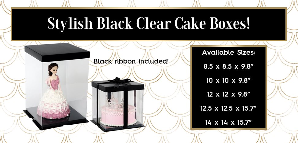Black Clear Window Cake Boxes