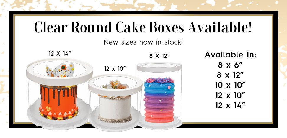 Clear Round Cake Boxes