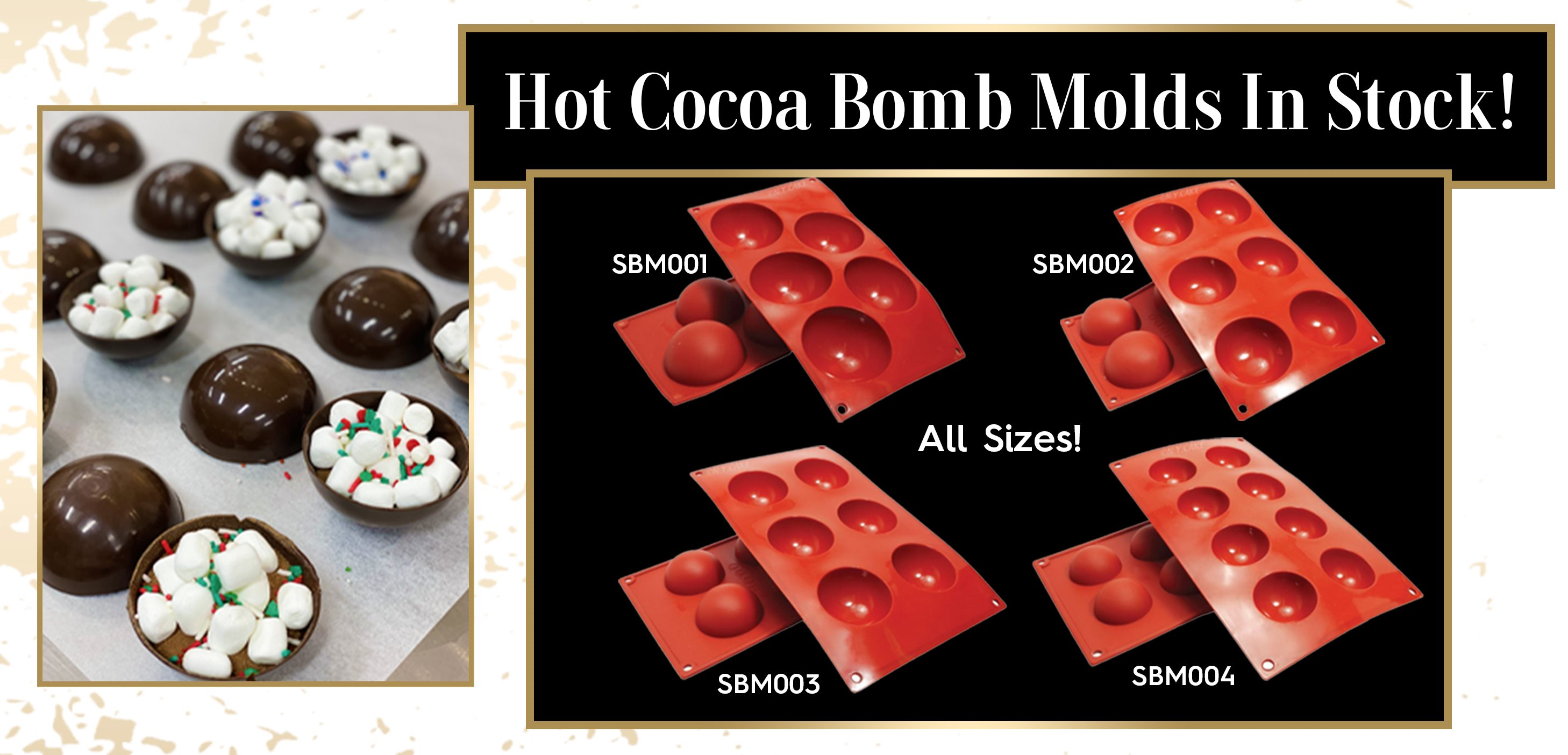 Hot Cocoa Bombs Chocolate Bombs Silicone Hemisphere Molds