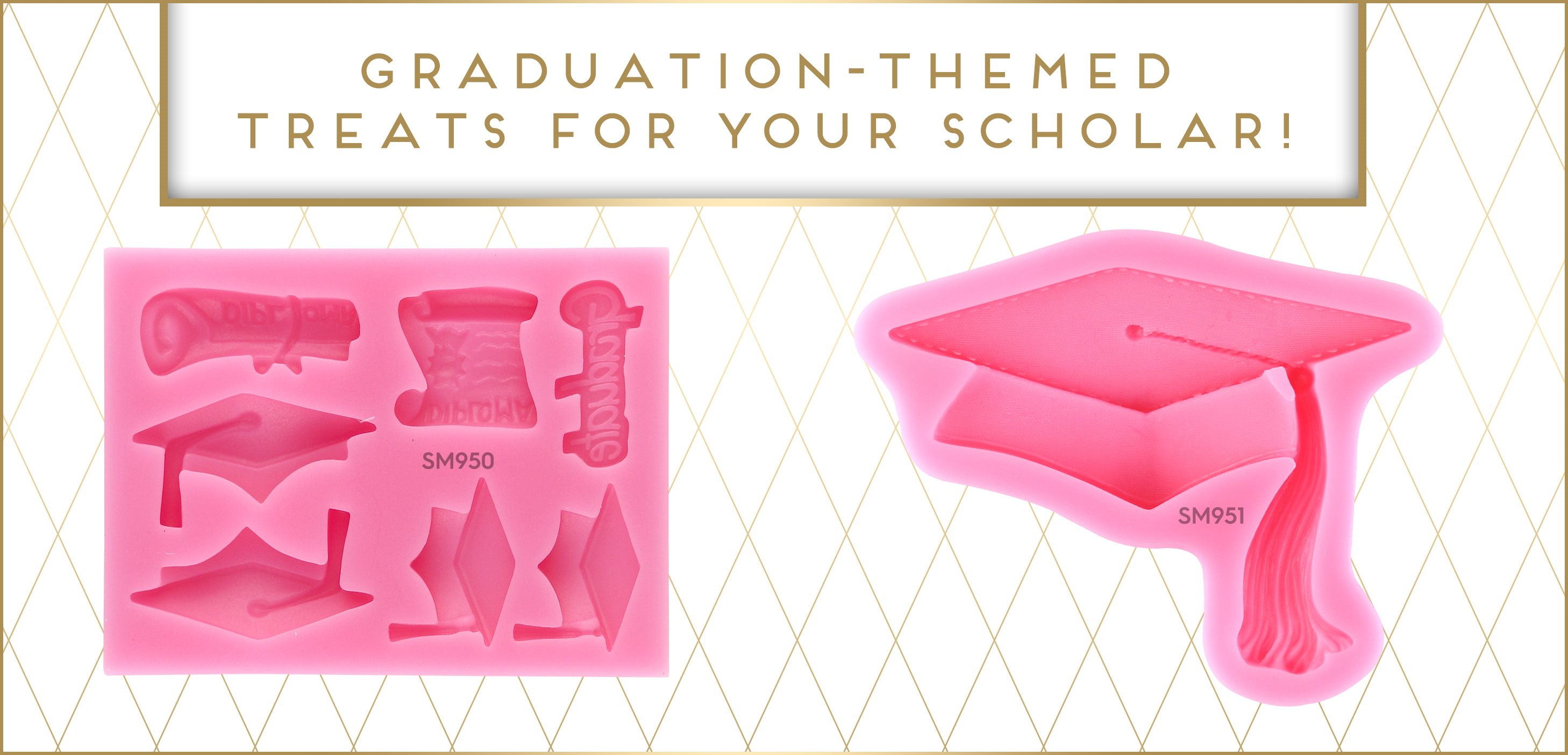 Graduation Cap Diploma Silicone Mold
