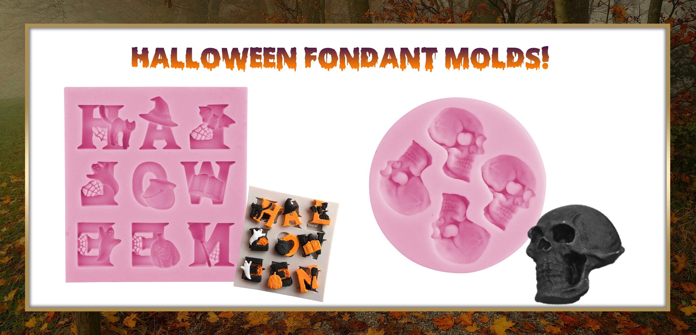Halloween Letters Fondant