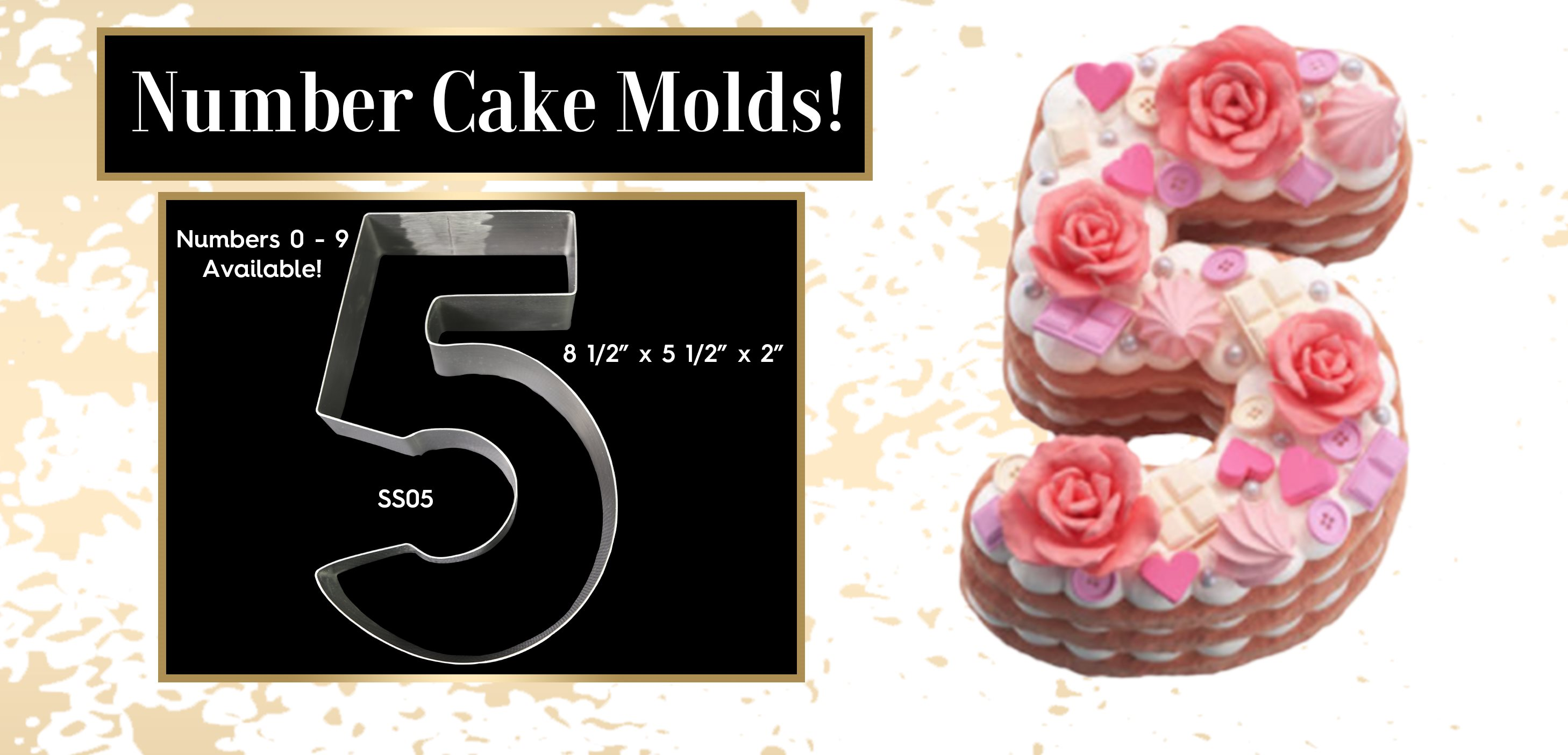 Stainless Steel Large Number Cake Mold Rings