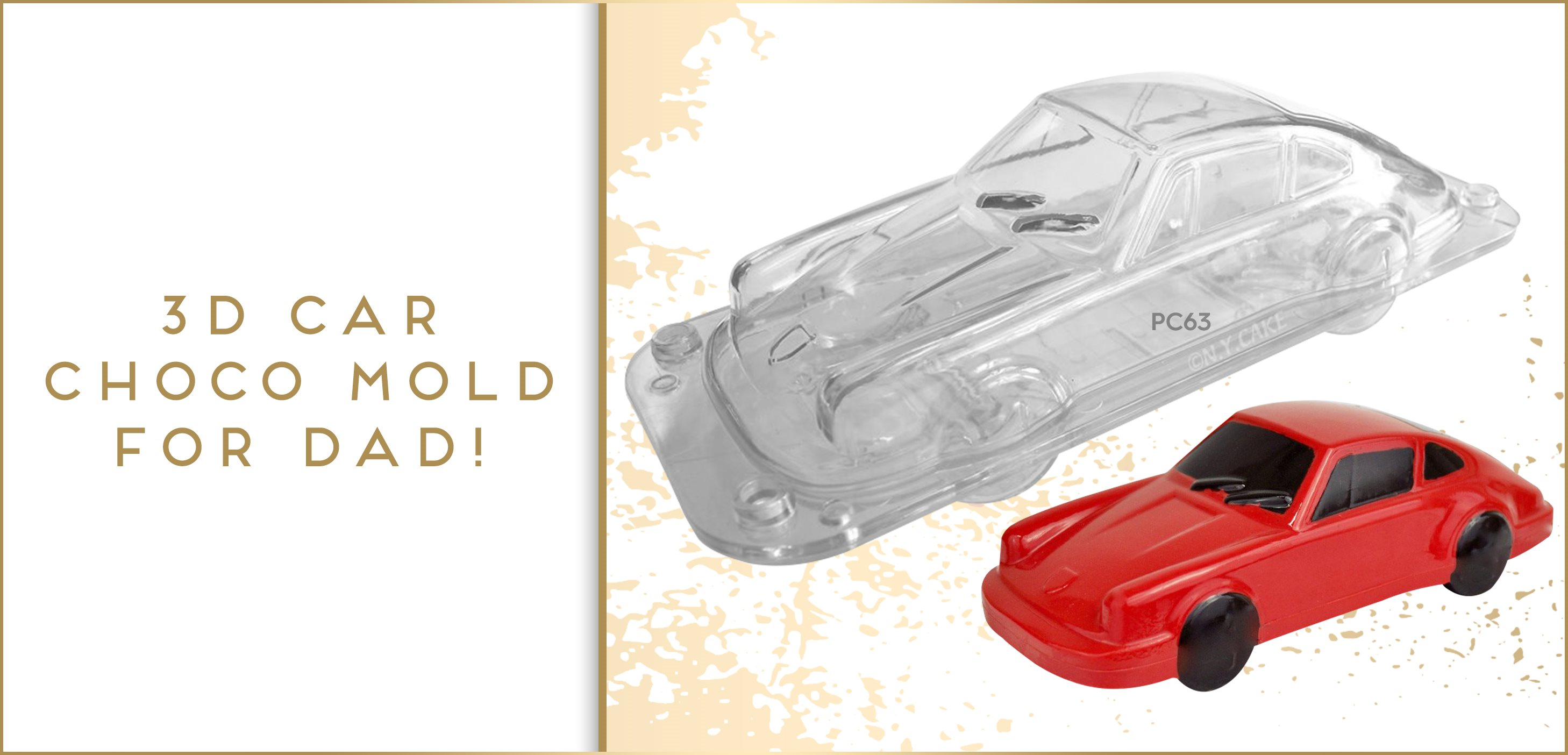3D Car Polycarbonate Chocolate Mold Fathers Day