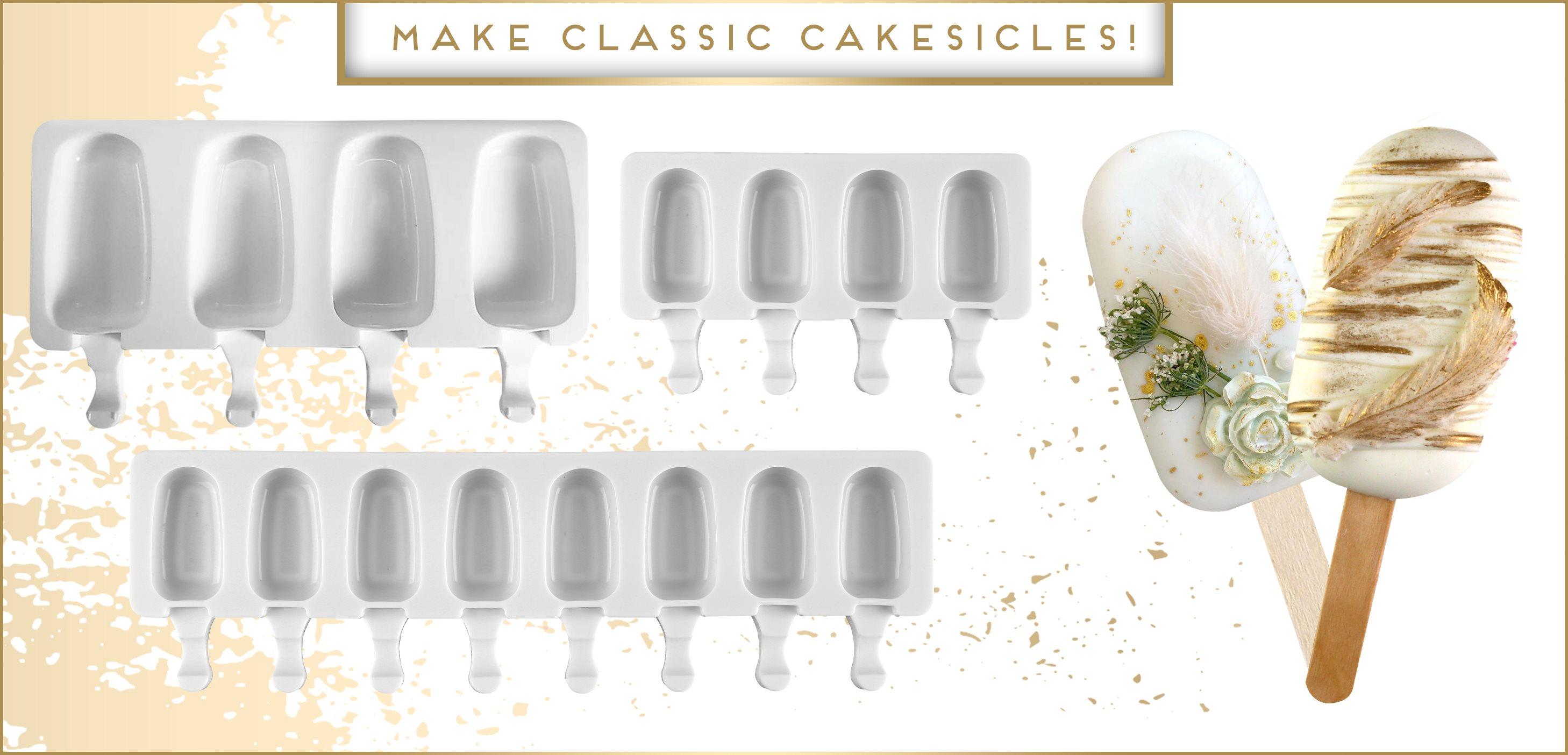 Classic Cakesicle Premiere Shape Mold Mini 4 and 8 Cavity