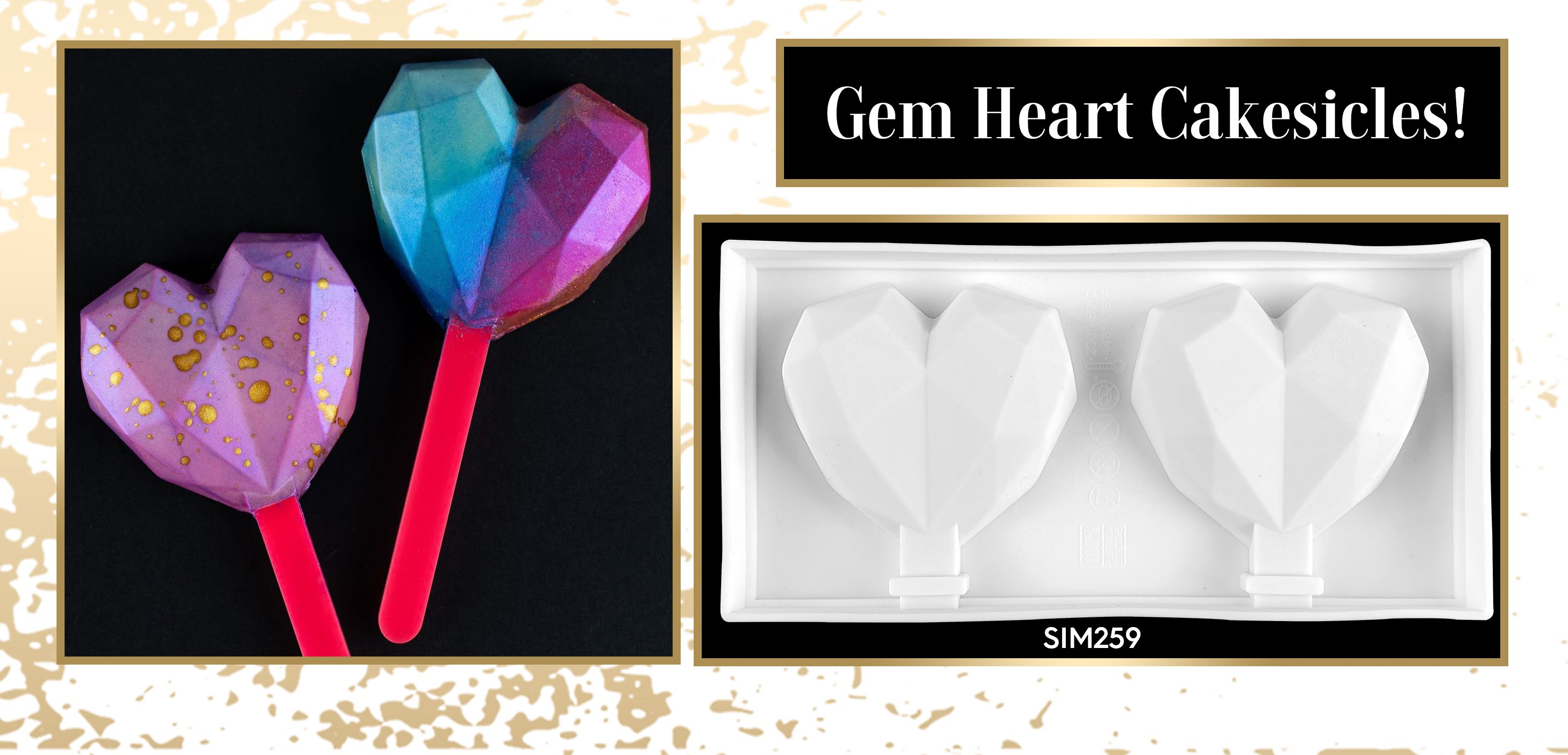 Heart Gem Cakesicles