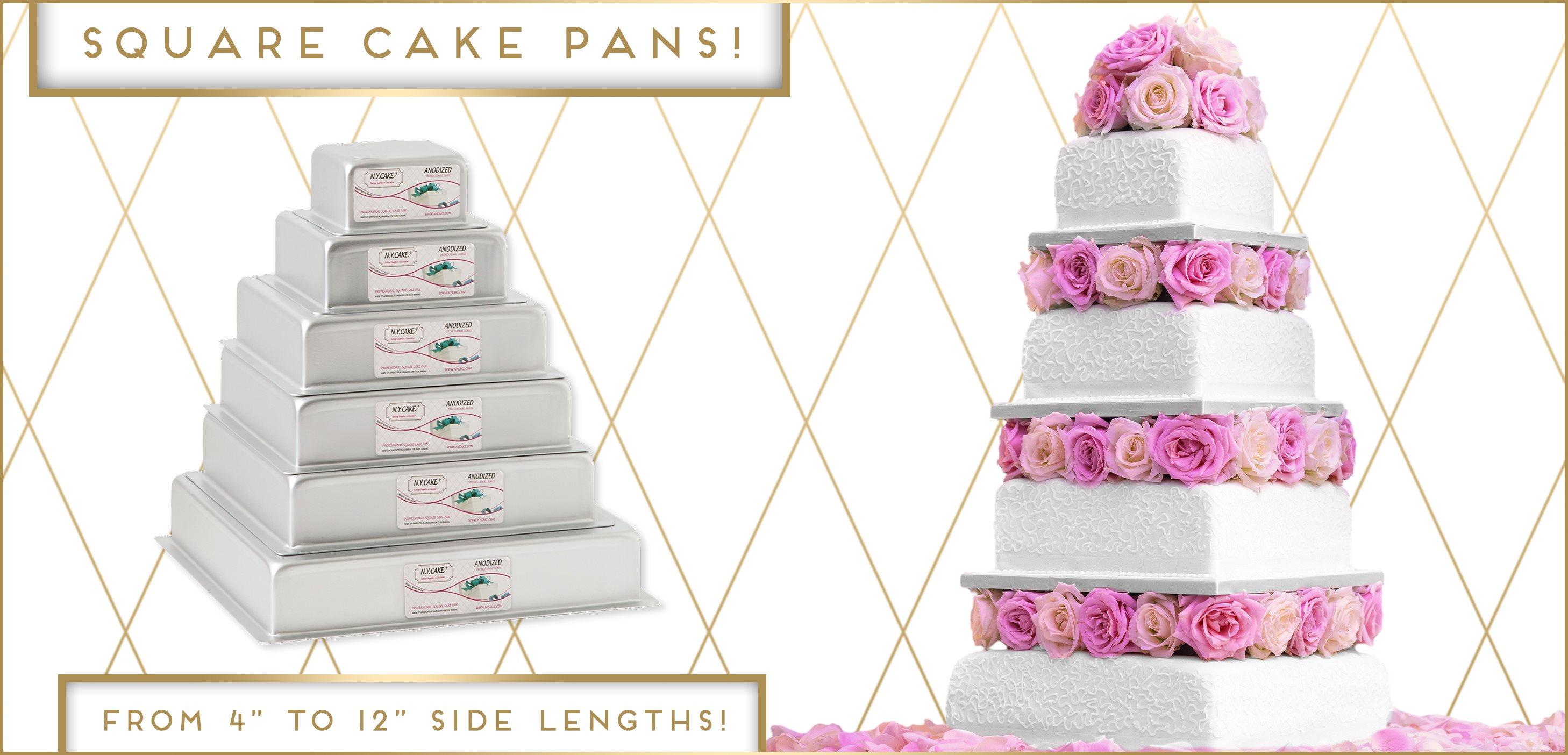 Square Cake Pan Wedding Cake