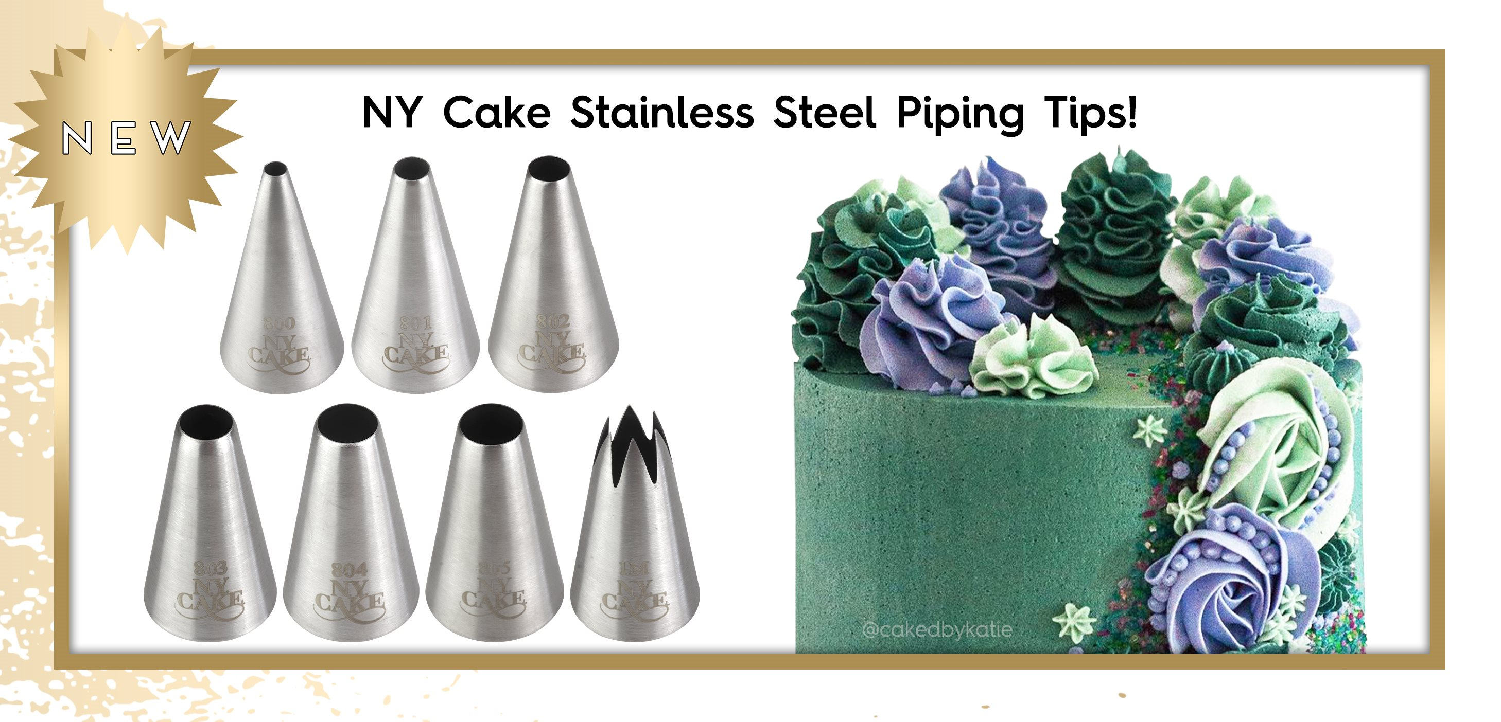 NY Cake Piping Tips